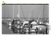 Boats And Reflections B-w Carry-all Pouch