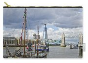 Boats And Shard And Tower Bridge Carry-all Pouch