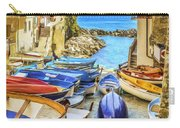 Boats At Cinque Terre Carry-all Pouch