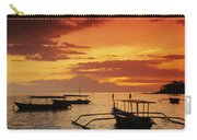 Boats At Senggigi Carry-all Pouch