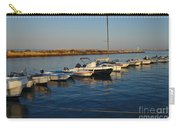 Boats At Sunset In Fuzeta Carry-all Pouch