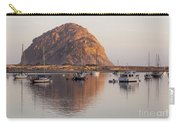Boats In Morro Rock Reflection Carry-all Pouch