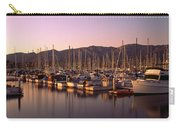 Boats Moored At A Harbor, Stearns Pier Carry-all Pouch