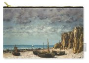 Boats On A Beach, Etretat Carry-all Pouch