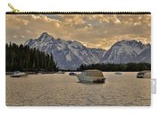 Boats On Jackson Lake At Sunset Carry-all Pouch
