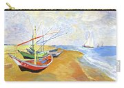 Boats On The Beach At Saintes-maries After Van Gogh Carry-all Pouch