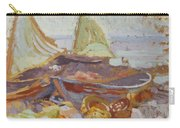 Boats On The Shore Carry-all Pouch