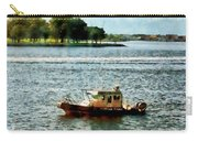 Boats - Police Boat Norfolk Va Carry-all Pouch by Susan Savad