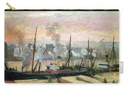 Boats Unloading Wood Carry-all Pouch