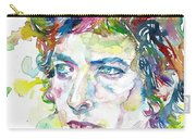 Bob Dylan - Watercolor Portrait.19 Carry-all Pouch