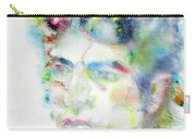 Bob Dylan - Watercolor Portrait.4 Carry-all Pouch