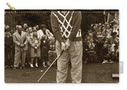Bob Hope At Pro-am At Pebble Beach California 1953 Carry-all Pouch