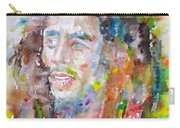 Bob Marley - Watercolor Portrait.17 Carry-all Pouch