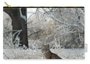 Bobcat And Heavy Frost Carry-all Pouch