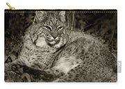 Bobcat In Black And White Carry-all Pouch