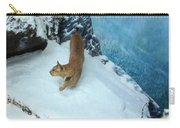 Bobcat On A Mountain Ledge Carry-all Pouch
