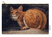 Bobcat On Ledge Carry-all Pouch