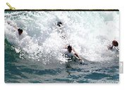 Body Surfing The Ocean Waves Carry-all Pouch