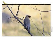 Bohemian Cedar Waxwing In Spring Carry-all Pouch