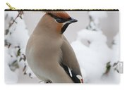 Bohemian Waxwing Bombycilla Garrulus Carry-all Pouch