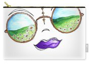Boho Gypsy Daisy Field Sunglasses Reflection Design From The Aroon Melane 2014 Collection By Madart Carry-all Pouch