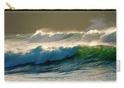 Boiler Bay Waves Rolling Carry-all Pouch by Mike  Dawson