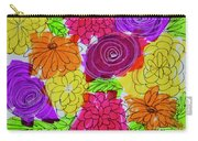 Bold Flowers Carry-all Pouch