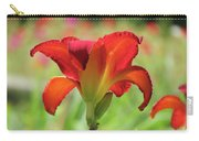 Bold Red - Daylily Carry-all Pouch