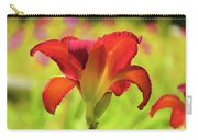 Bold Red Gold - Daylily Carry-all Pouch