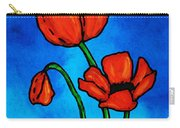 Bold Red Poppies - Colorful Flowers Art Carry-all Pouch