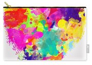 Bold Watercolor Heart - Digital Art Carry-all Pouch