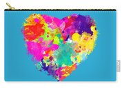 Bold Watercolor Heart - Tee Shirt Design Carry-all Pouch