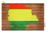 Bolivia Rustic Map On Wood Carry-all Pouch