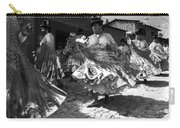 Bolivian Dance Black And White Carry-all Pouch