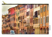 Bologna Window Balcony Texture Colorful Italy Buildings Carry-all Pouch