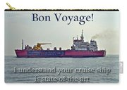 Bon Voyage Greeting Card - Enjoy Your Cruise Carry-all Pouch