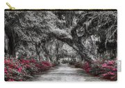 Bonaventure Cemetery Bw Carry-all Pouch