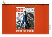 Bonds Or Bondage -- Ww2 Propaganda Carry-all Pouch