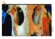 Bone And Paint Abstract Carry-all Pouch