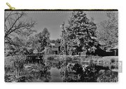 Bonneyville Grist Mill          Black And White        Autumn        Indiana Carry-all Pouch