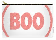 Boo Rubber Stamp Carry-all Pouch