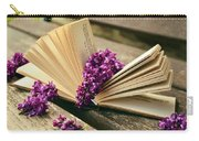 Book And Flower Carry-all Pouch