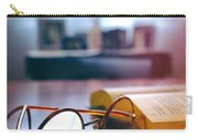 Book And Glasses Carry-all Pouch