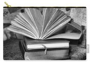 Books In Black And White Carry-all Pouch