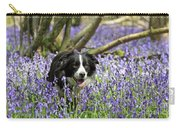 Border Collie In Bluebells Uk Carry-all Pouch