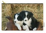 Border Collie Puppies Carry-all Pouch