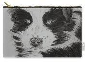 Surprised Border Collie Puppy Carry-all Pouch