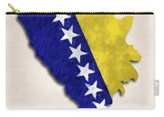 Bosnia And Herzegovina Map Art With Flag Design Carry-all Pouch