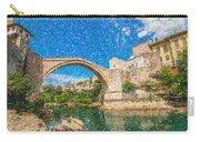 Bosnia Mostar Herzegovina Europe Travel Landmark Carry-all Pouch