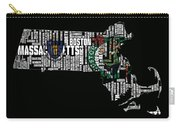 Boston Celtics Typographic Map Carry-all Pouch